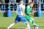 DALŠÍ JARNÍ VÍTĚZSTVÍ. Vilémov (v zeleném) doma porazil 2:0 Lovosice.