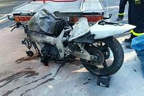 Dopravní nehoda motorkáře. Ilustrační foto.