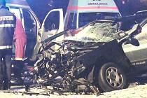 Dopravní nehoda v Dobkovicích.