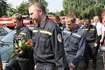 Hasiči uctili památku svého kolegy