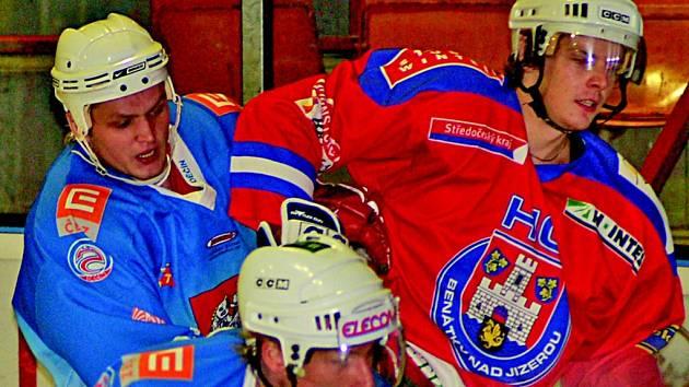 Hokejisté HC Děčín v zápase s Benátkami