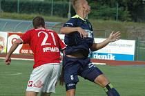 JAN FILIP, kapitán FK Varnsdorf, v utkání proti Pardubicím.
