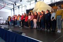 Nácvik gymnazistů v Německu.