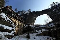Pravčická brána v zimě.