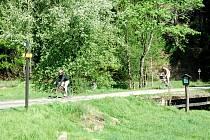 Cyklisté v Kyjovském údolí.