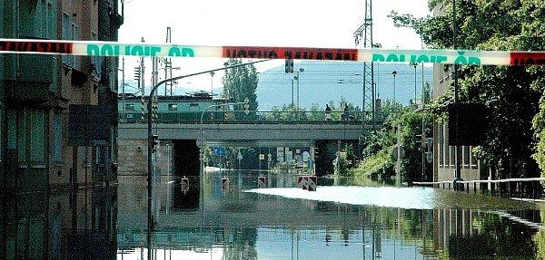 Povodně Děčín 5.6.dopoledne