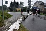 Velká voda ve Varnsdorfu - srpen 2010