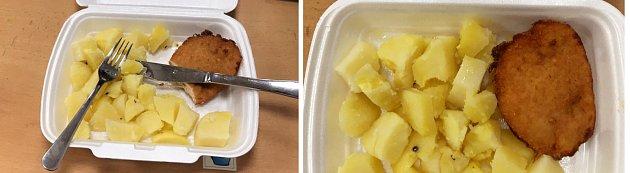 Komisaři vRumburku dostali kvečeři řízek a brambory.