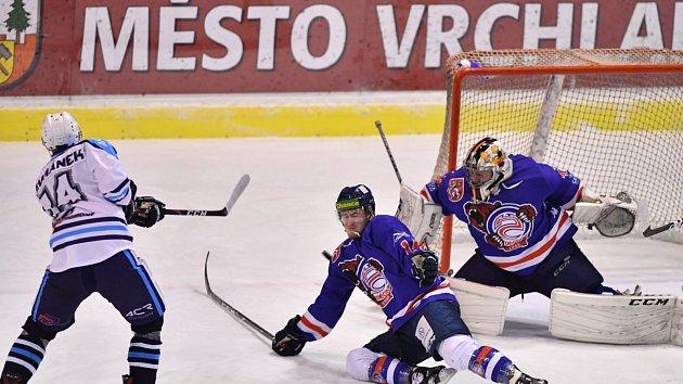 Sport hokej 3. zápas Vrchlabí - Děčín