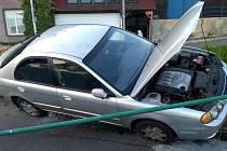 Nehoda v Horním Žlebu.