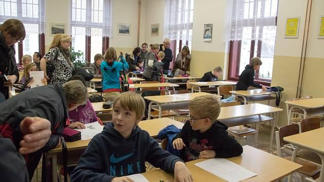Přijímačky nanečisto na rumburském gymnáziu.