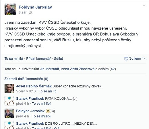 Facebook J. Foldyna.
