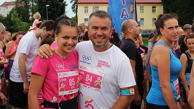 DOBRÁ NÁLADA nechyběla v Děčíně při čtvrtém ročníku T-Mobile olympijského běhu.
