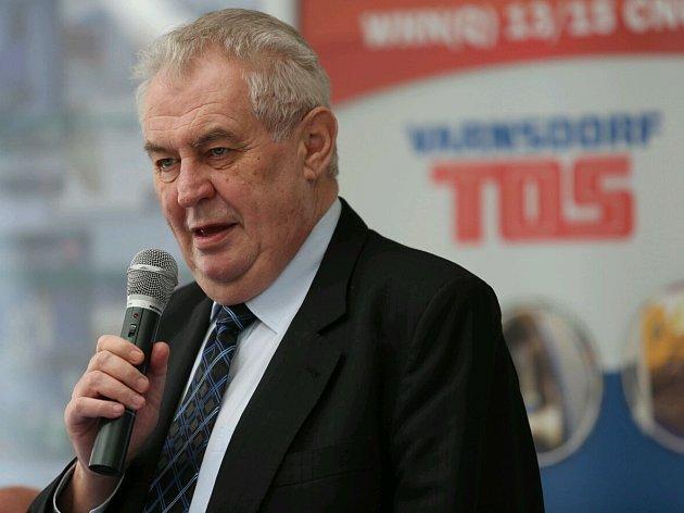 Miloš Zeman ve Varnsdorfu.
