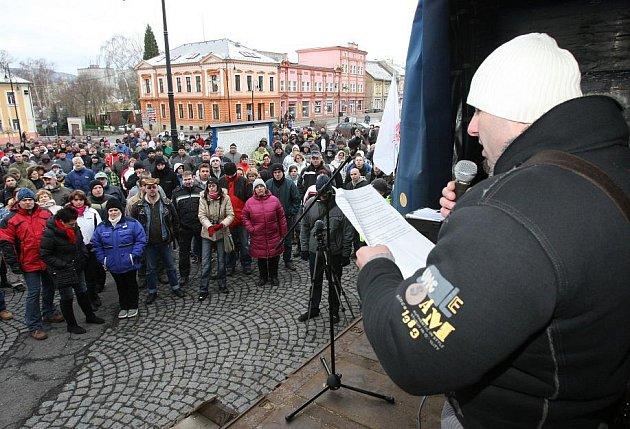 První letoční demontrace ve Varnsdorfu