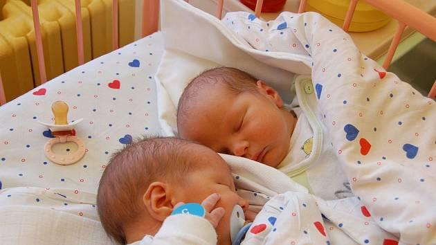 Petře Černé z Děčína se 23. února ve 22.15 hodin v děčínské porodnici narodili dvojčátka Petr a Matěj Bartošovi. Vážili 3,30 a 3,00 kg a měřili 50 a 48 cm.