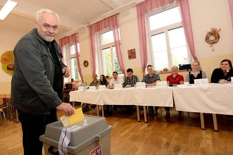 Starosta Martin Louka u voleb 2014.