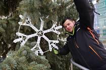 V Děčíně začali zdobit vánoční strom