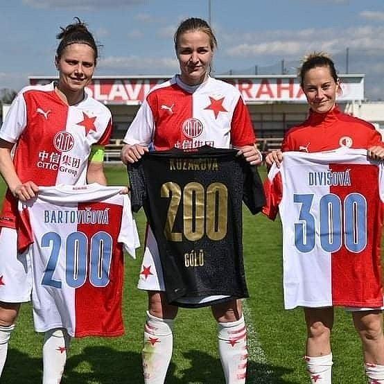 Tereza Kožárová během sezony dosáhla na dvoustý ligový gól v dresu Slavie.