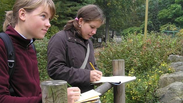 Studenti malovali v zoo