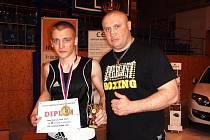 DAVID PAZDERA (vlevo) s trenérem Václavem Němečkem.