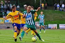 TO BYLA ŠKODA. Varnsdorf (ve žlutém) doma remizoval 0:0 s FK Bohemians Praha.