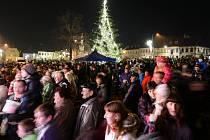 Rozsvěcení vánočního stromu ve Šluknově 2015.
