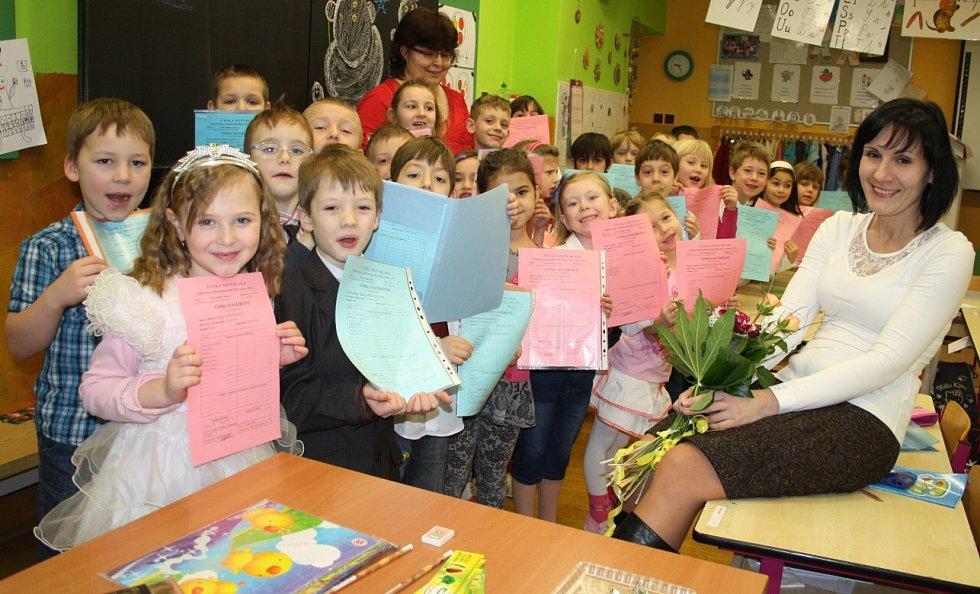 Školáci dostali pololetní vysvědčení.