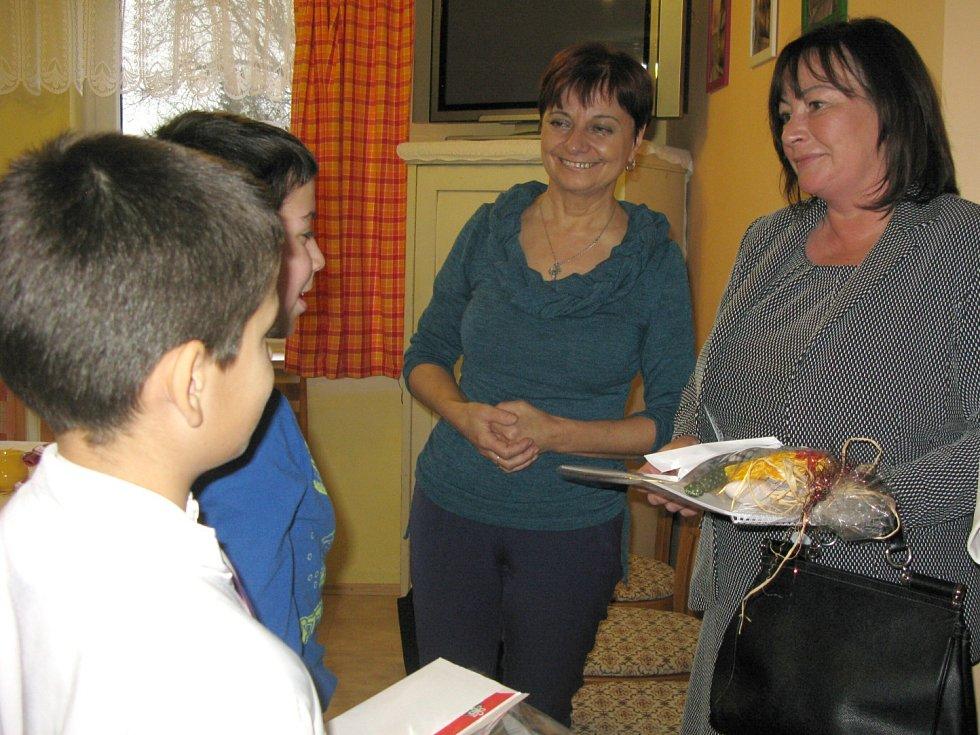 Ivana Zemanová v Domově sv. Vincenta de Paul v Dolním Podluží.
