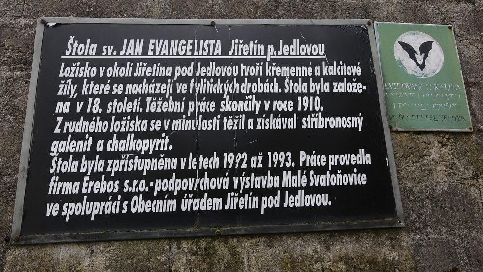 Unikátní štola v Jiřetíně pod Jedlovou.