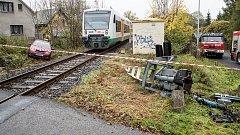 Srážka vlaku s osobním autem ve Varnsdorfu