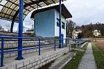 Atletický stadion v Rumburku.