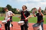 Slavnostní otevření atletického stadionu v Rumburku.