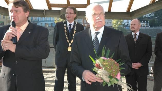 Prezident Václav Klaus na návštěvě v Děčíně
