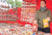Farmářské trhy na Masarykově náměstí v Děčíně.