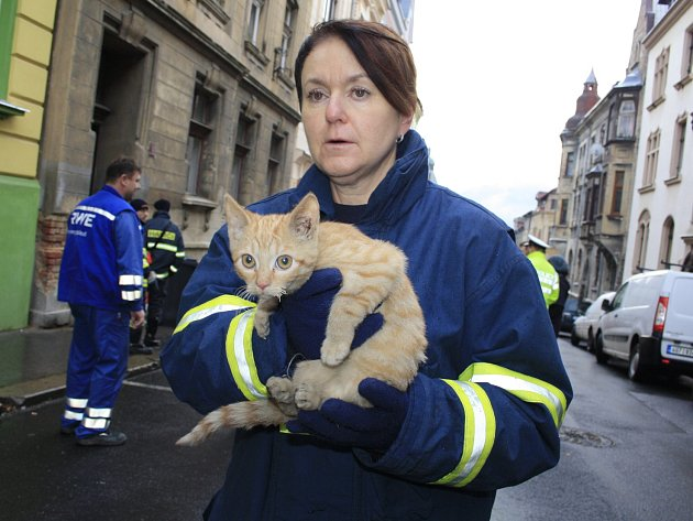 V jednom z činžovních domů v ulici Elišky Krásnohorské vybuchl plyn.
