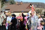 Při podtolštejnském masopustu se sešly masky ze tří vesnic.