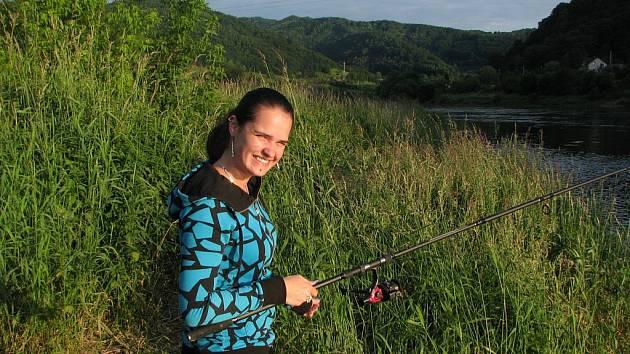 U VODY. Vyzkoušela jsem si rybaření.