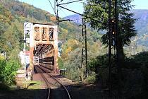 Železniční most v Prostředním Žlebu.