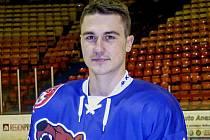 PAVEL ZAJAN, mladý útočník HC Děčín, prožívá vůbec první sezonu v seniorském hokeji.