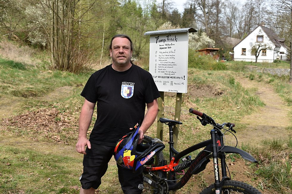 Biker František Švandrlík.