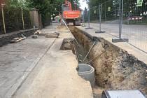 Ilustrační foto - budování kanalizace