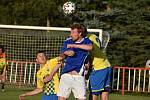 Fotbalisté Modré (modré dresy) doma prohráli s Litoměřickem 2:3.