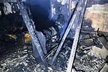 Požár domu v Benešově nad Ploučnicí
