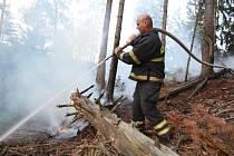 V Národním parku České Švýcarsko hořel les.