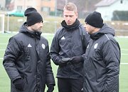 PRVNÍ TRÉNINK. Fotbalisté Varnsdorfu zahájili zimní přípravu na jarní část druhé ligy.