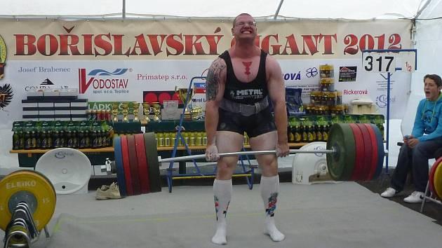 VÍTĚZ. Bořislavským gigantem se stal borec z OST Varnsdorf Luboš Šos.