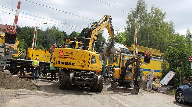 Oprava přejezdu na Starém Městě v Děčíně