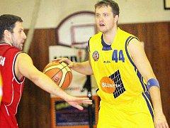 Rozehrávač Tomáš Holešovský patří k nejzkušenějším hráčům ústeckého basketbalového týmu.