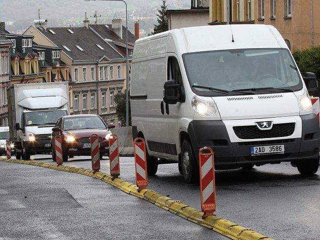 Kamenická ulice v Děčíně.